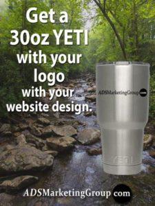 FREE YETI with website design