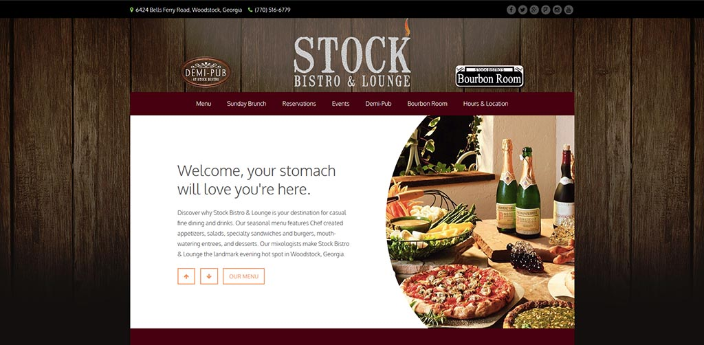 Atlanta Restaurant Website Design